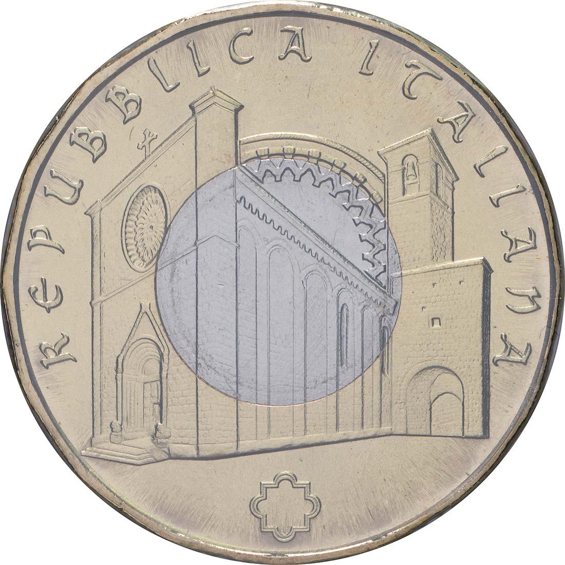 Rückseite:Italien : 5 Euro Kunstschätze von Amatrice  2018 bfr