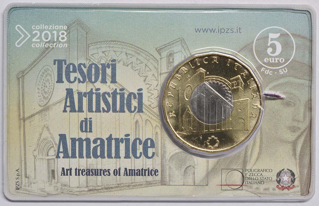 Lieferumfang:Italien : 5 Euro Kunstschätze von Amatrice  2018 bfr