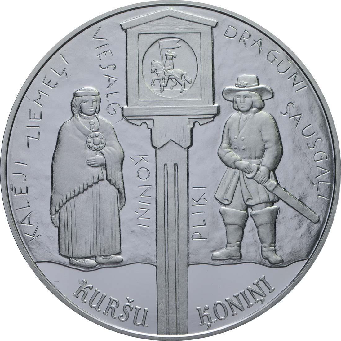Vorderseite:Lettland : 5 Euro Kuronische Könige / Konini  2018 PP