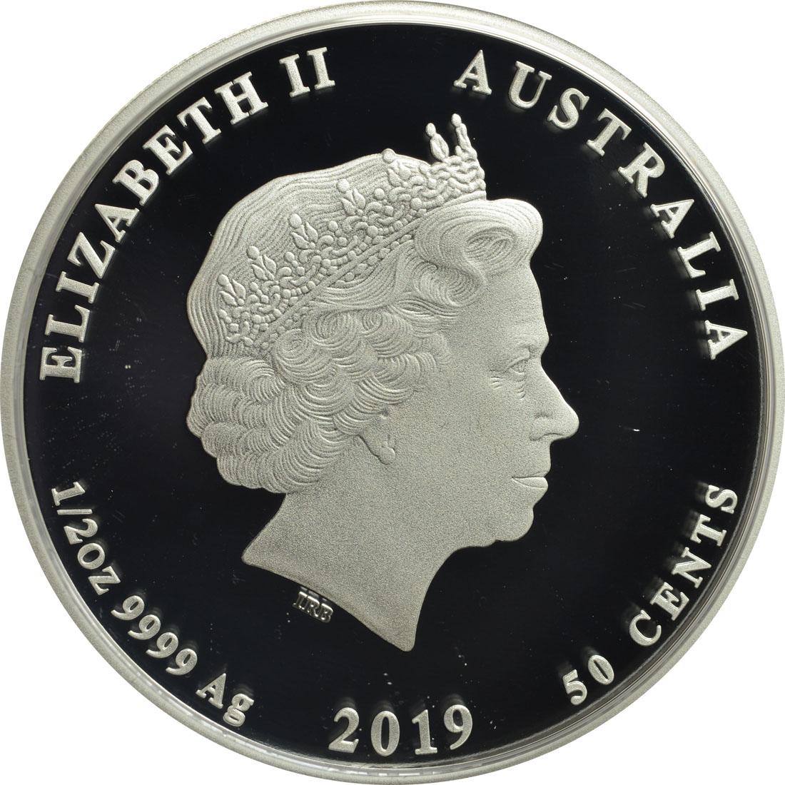 Rückseite:Australien : 50 Cent Jahr des Schweins  2019 PP