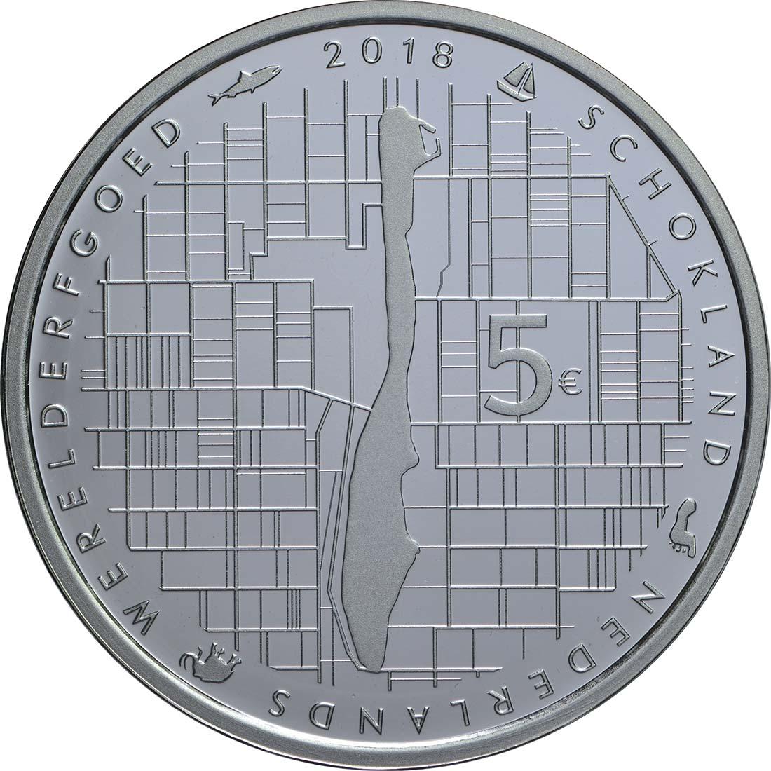 Rückseite:Niederlande : 5 Euro Schokland  2018 PP