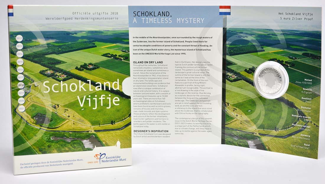 Lieferumfang:Niederlande : 5 Euro Schokland  2018 PP