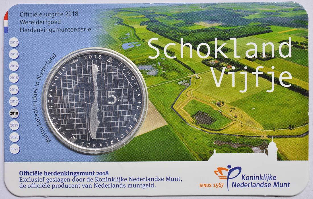 Lieferumfang:Niederlande : 5 Euro Schokland  2018 bfr