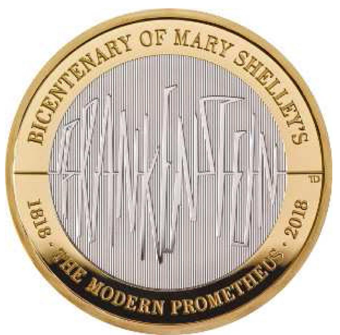 Übersicht:Großbritannien : 2 Pfund 200 J. Mary Shelley´s Frankenstein  2018 PP