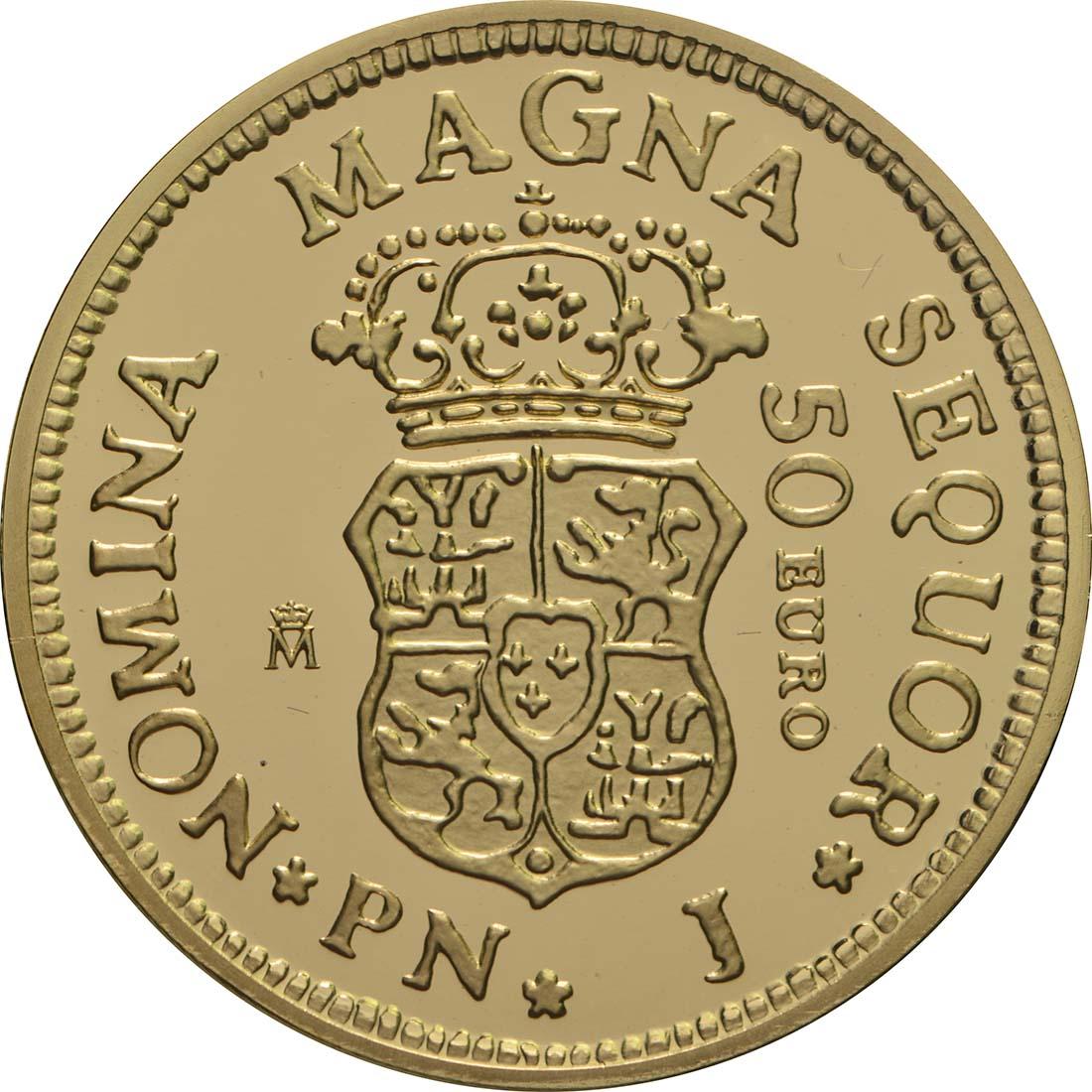 Rückseite:Spanien : 50 Euro Ferdinand VI.  2018 PP