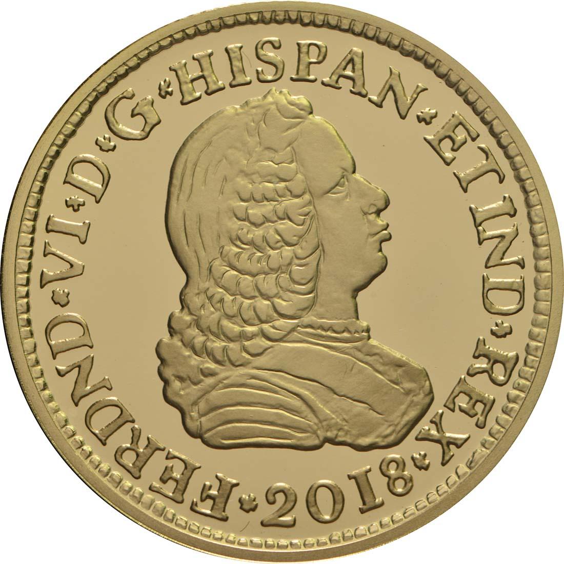 Vorderseite:Spanien : 50 Euro Ferdinand VI.  2018 PP