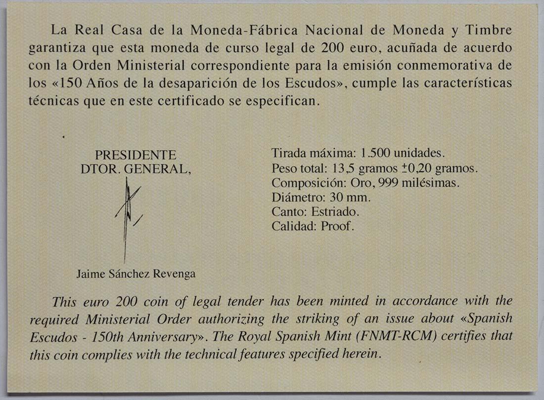 Zertifikat:Spanien : 200 Euro Philip II.  2018 PP