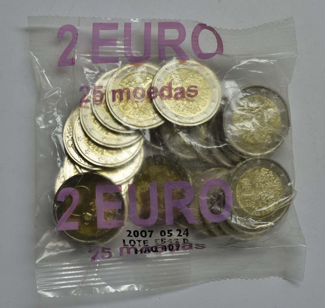 Lieferumfang:Portugal : 2 Euro 25x2 Euro EU-Präsidentschaft im Originalbeutel  2007 Stgl.