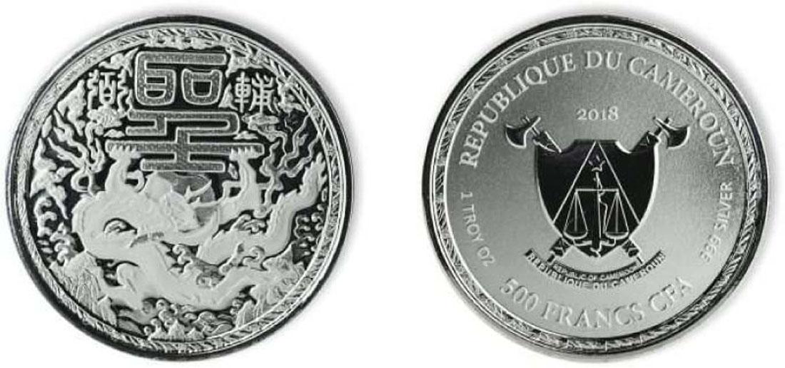 Lieferumfang:Kamerun : 500 Franc Imperial Dragon  2018 P/L