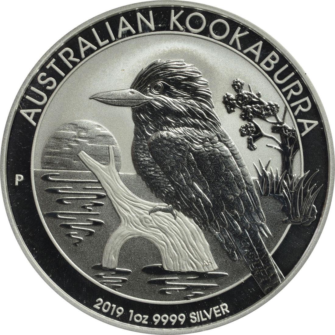 Vorderseite:Australien : 1 Dollar Kookaburra  2019 Stgl.