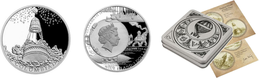 Übersicht:Niue : 1 Dollar Weltraumschleuder - Von der Erde zum Mond  2018 PP