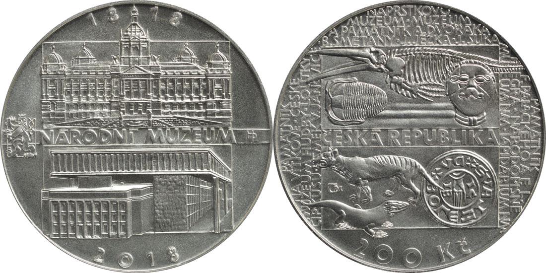 Übersicht:Tschechische Republik : 200 Kronen 200 Jahre Nationalmuseum  2018 Stgl.