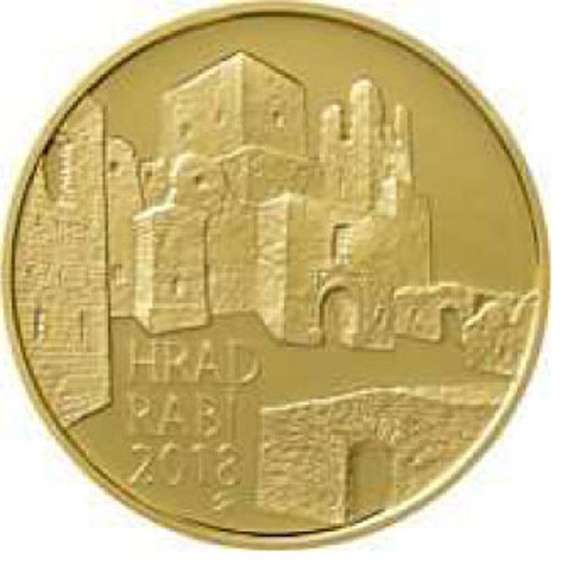 Übersicht:Tschechische Republik : 5000 Kronen Burg Rabi - Tschechische Burgen  2018 Stgl.