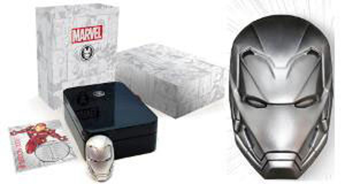 Lieferumfang:Fidji Inseln : 5 Dollar Iconic Masks of Marvel - Iron Man  2018 Stgl.