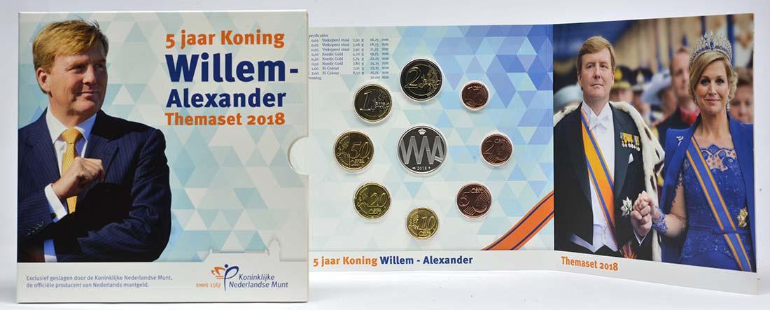 Lieferumfang:Niederlande : 3,88 Euro KMS Niederlande 5 Jahre Köing Willem Alexander  2018 Stgl.