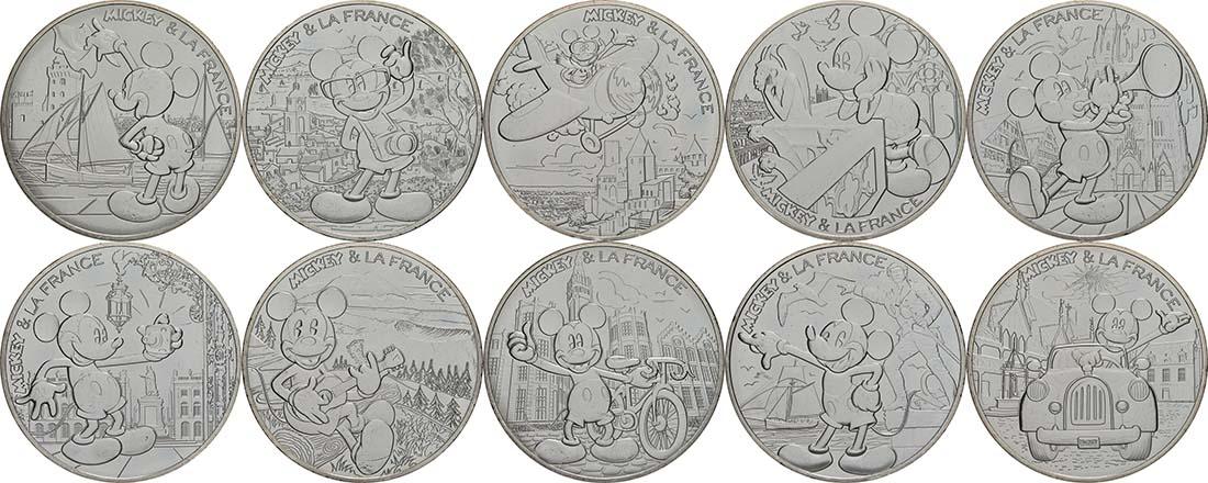 Übersicht:Frankreich : 100 Euro 10x10 Euro Micky Maus in Frankreich Set 2 von 2  2018 bfr