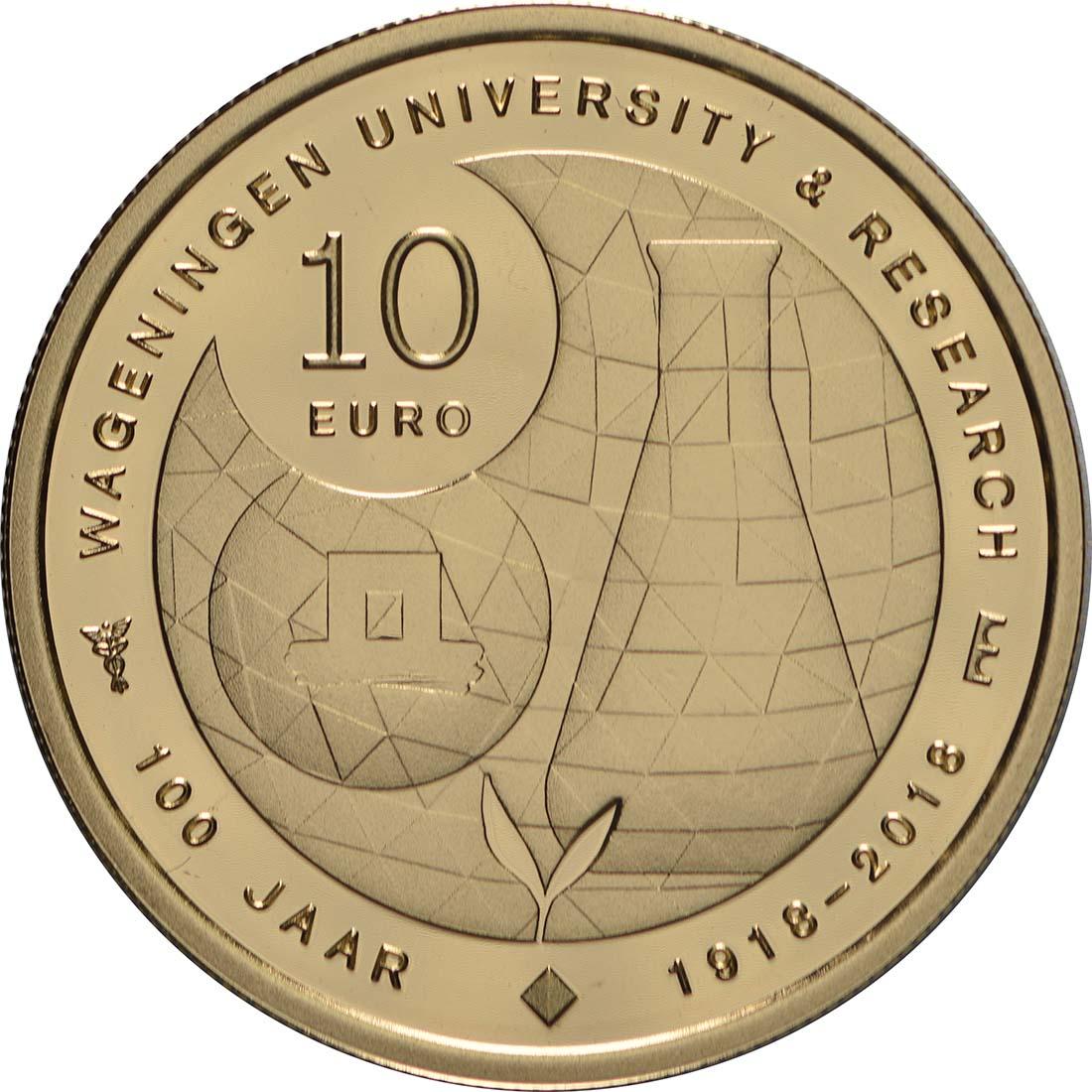 Rückseite:Niederlande : 10 Euro Uni Wageningen  2018 PP