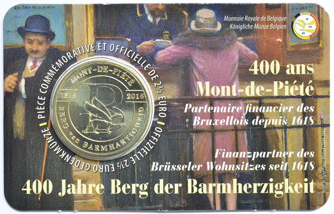 Lieferumfang:Belgien : 2,5 Euro 400 Jahre Mont-de-piété  2018 bfr