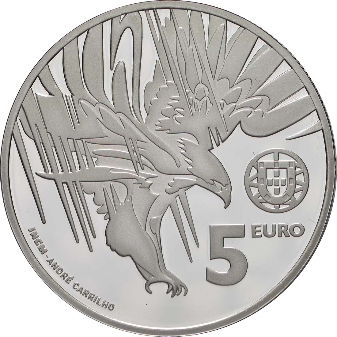Rückseite:Portugal : 5 Euro Spanischer Kaiseradler  2018 PP