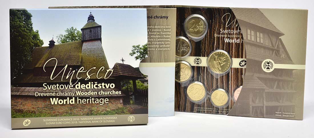 Übersicht:Slowakei : 3,88 Euro KMS Slowakei Unesco Weltkulturerbe - Kleine Holzkirchen  2018 bfr