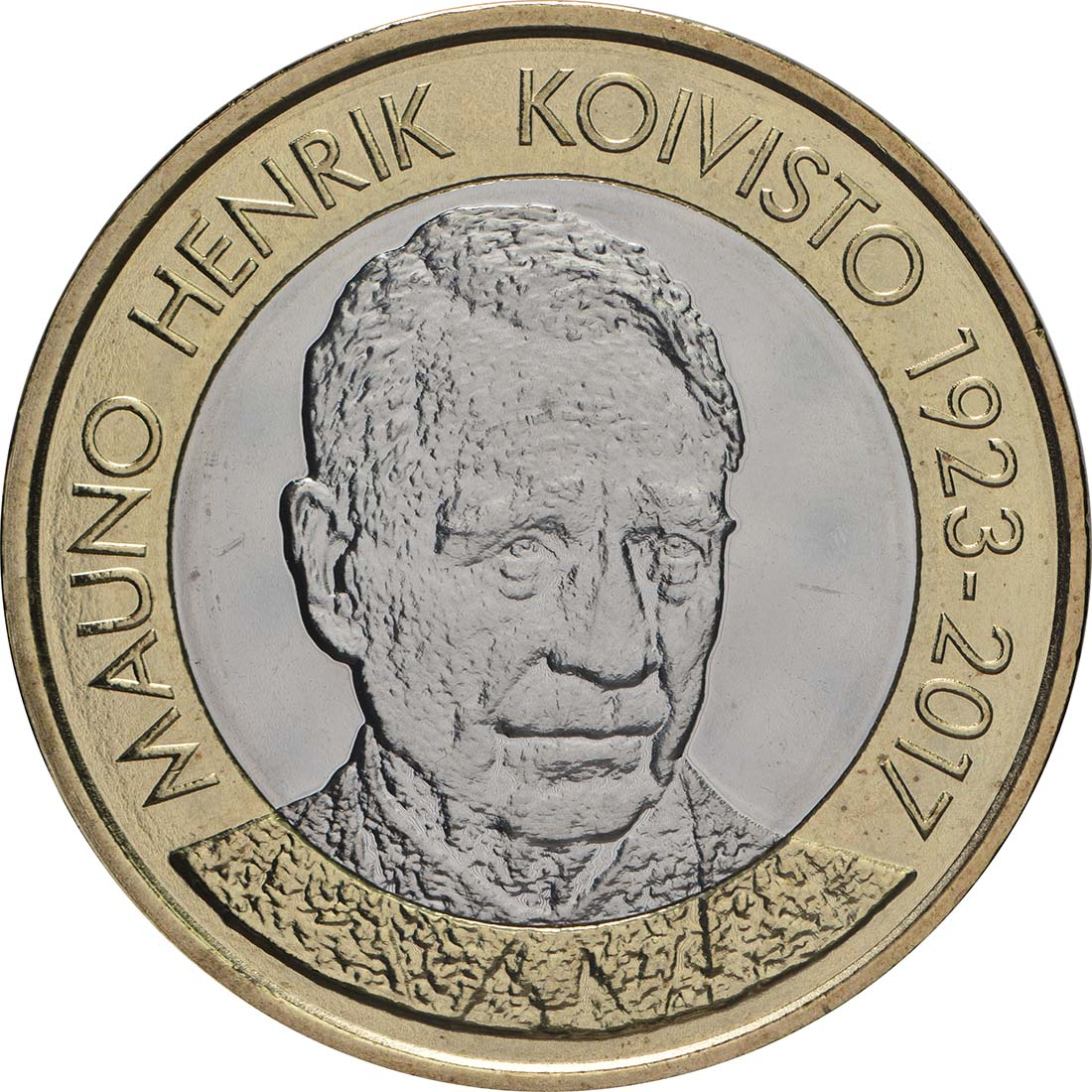 Vorderseite:Finnland : 5 Euro Koivisto  2018 bfr