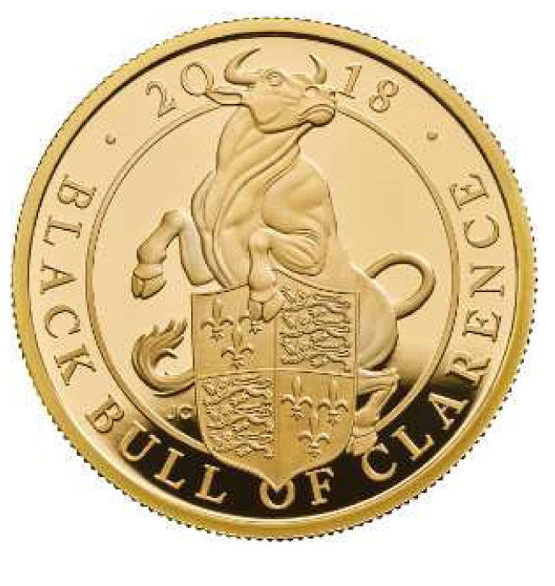 Übersicht:Großbritannien : 100 Pfund The Queen's Beast - Black Bull of Clarence  2018 PP