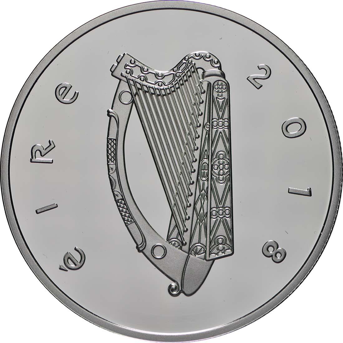 Rückseite:Irland : 15 Euro Bram Stokers Dracula  2018 PP