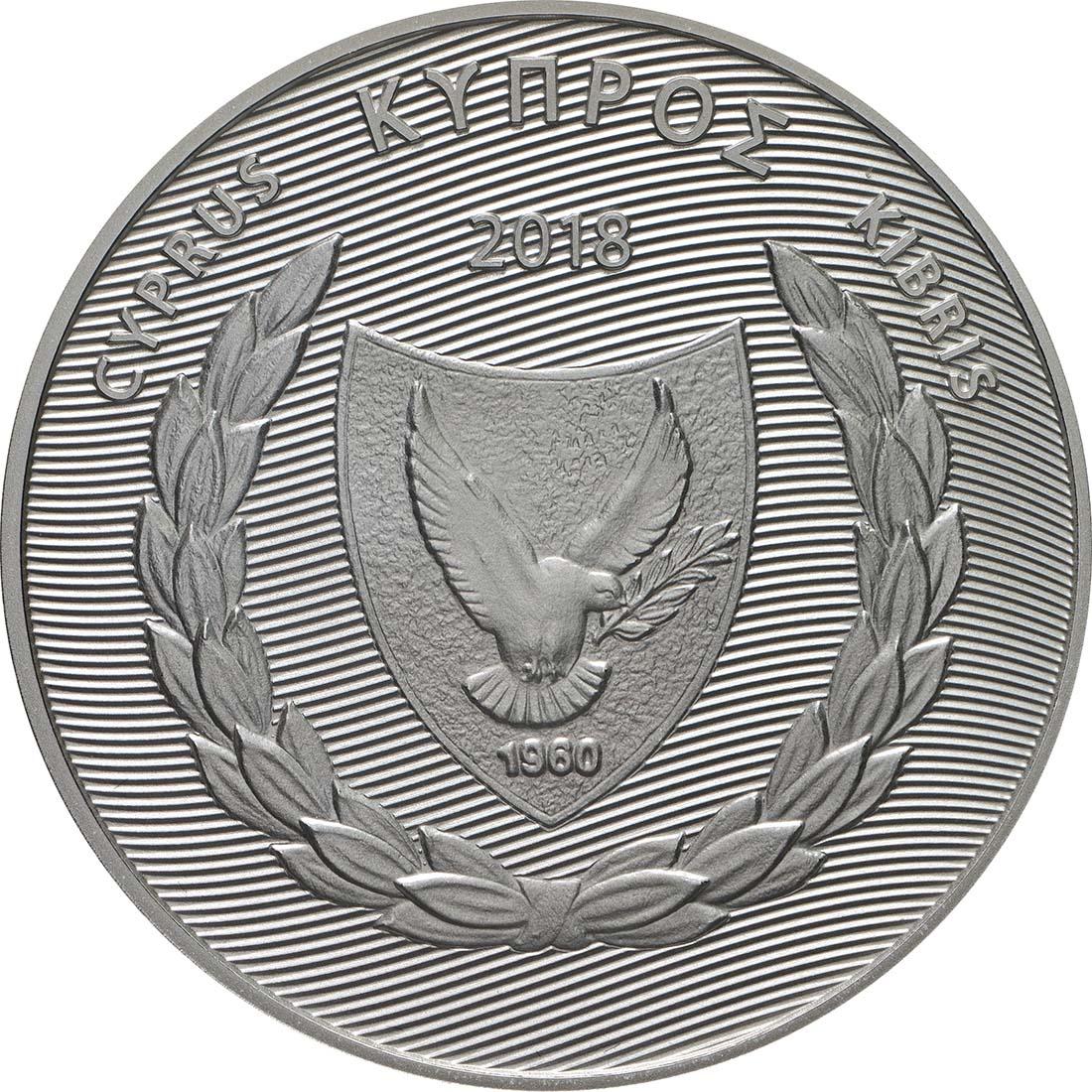 Vorderseite:Zypern : 5 Euro 10 Jahre Euro  2018 PP