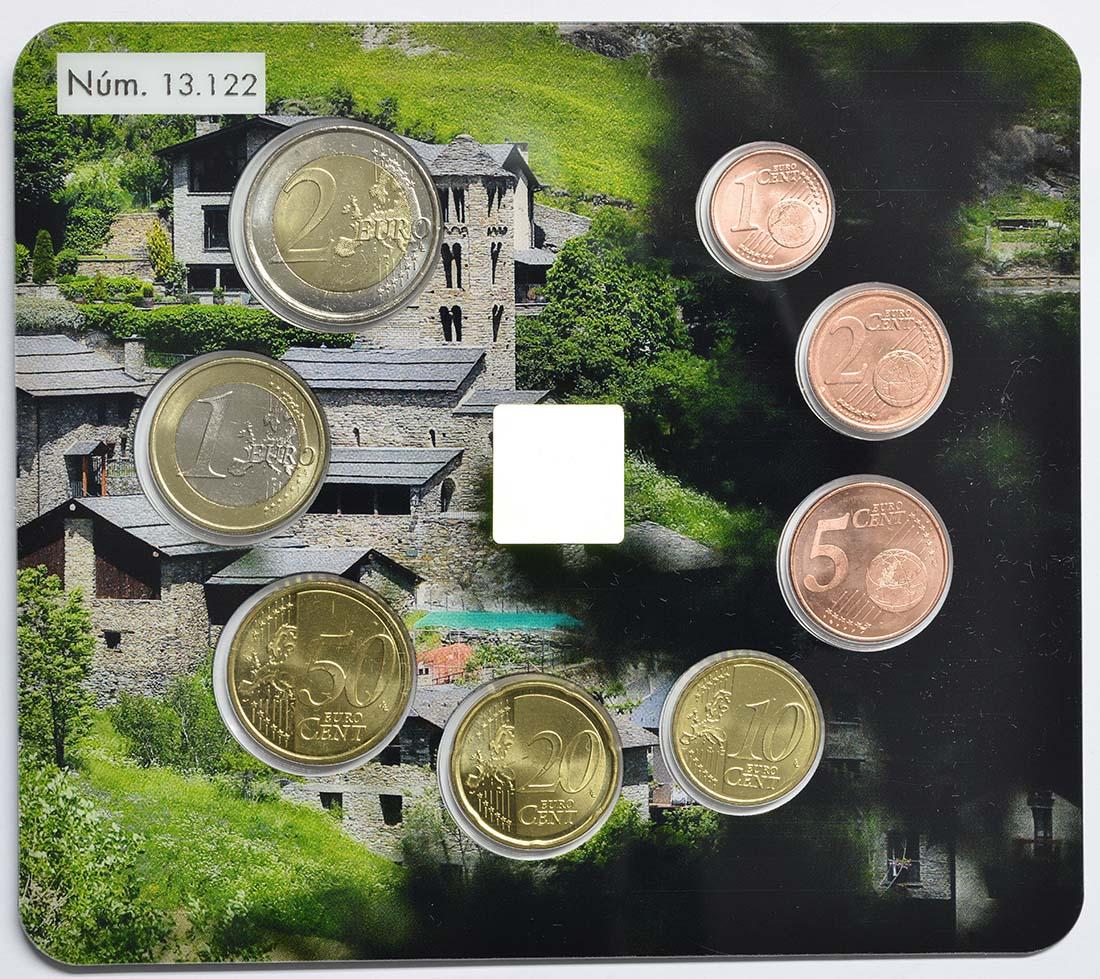 Rückseite:Andorra : 3,88 Euro KMS Andorra  2018 Stgl.