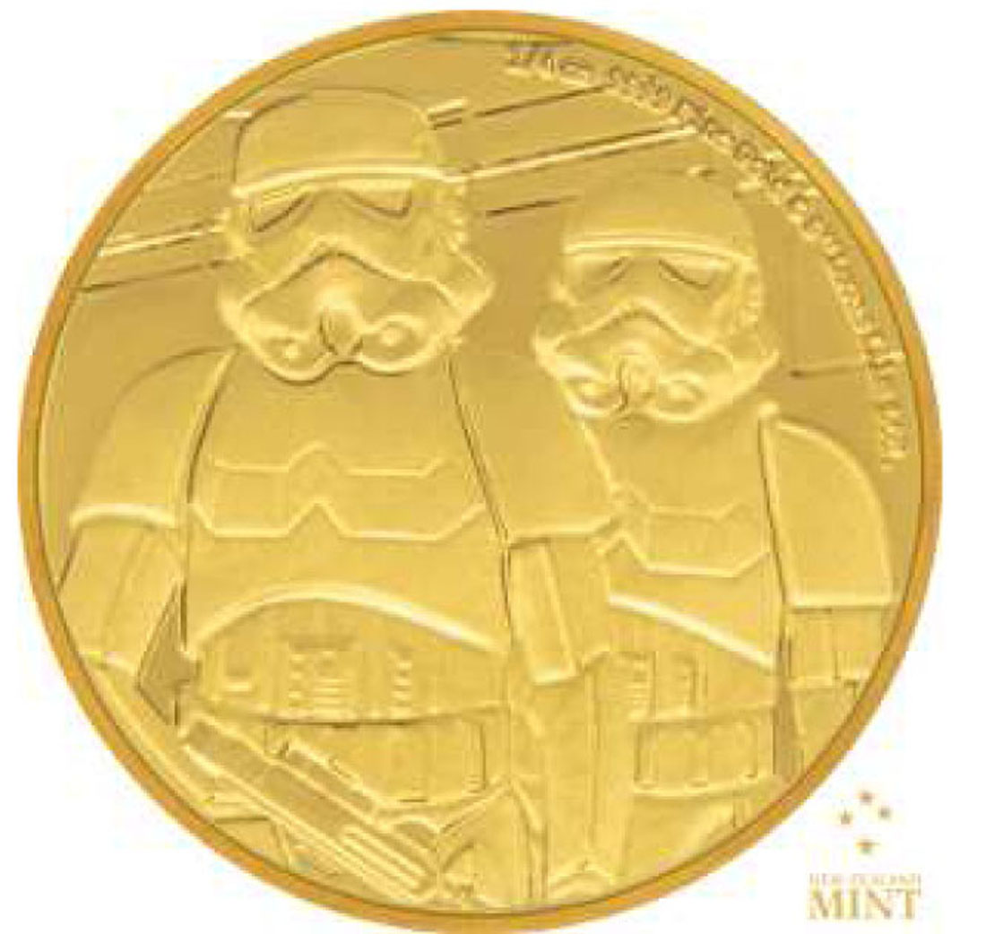 Lieferumfang:Niue : 25 Dollar Star Wars Classic – StormtrooperTM 1/4 oz  2018 PP