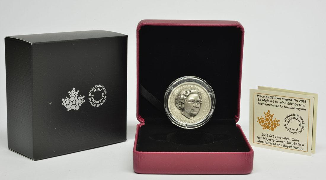 Lieferumfang:Kanada : 25 Dollar Elizabeth II - Die Matriarchin - Antikfinish  2018 Stgl.