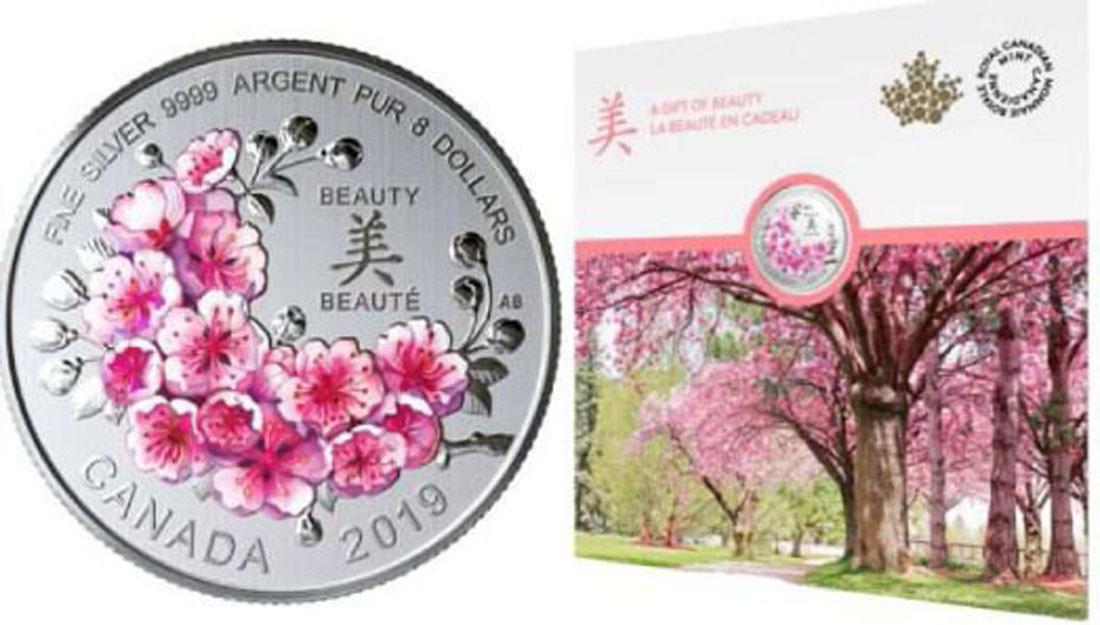 Übersicht:Kanada : 8 Dollar Kirschblüten - Ein Geschenk der Schönheit Blister  2019 Stgl.