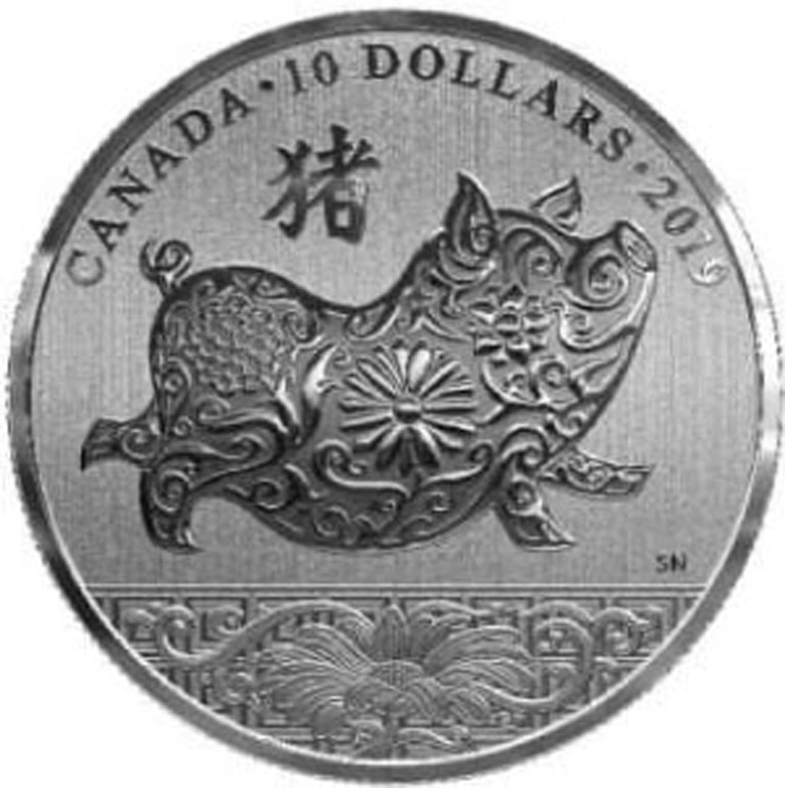 Übersicht:Kanada : 10 Dollar Jahr des Schweins  2019 Stgl.