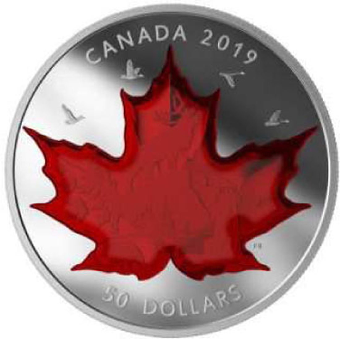 Übersicht:Kanada : 50 Dollar Maple Leaf - Symbole Canadas im Etui  2018 PP
