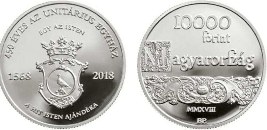 Übersicht:Ungarn : 10000 Forint 450 Jahre Unitarische Kirche  2018 PP