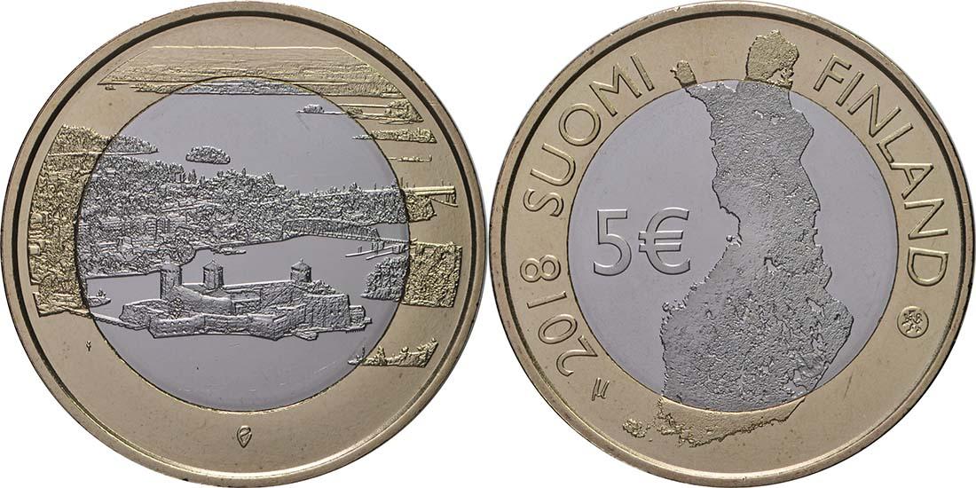 Lieferumfang:Finnland : 5 Euro Olavinlinna - Pihlajavesi  2018 bfr