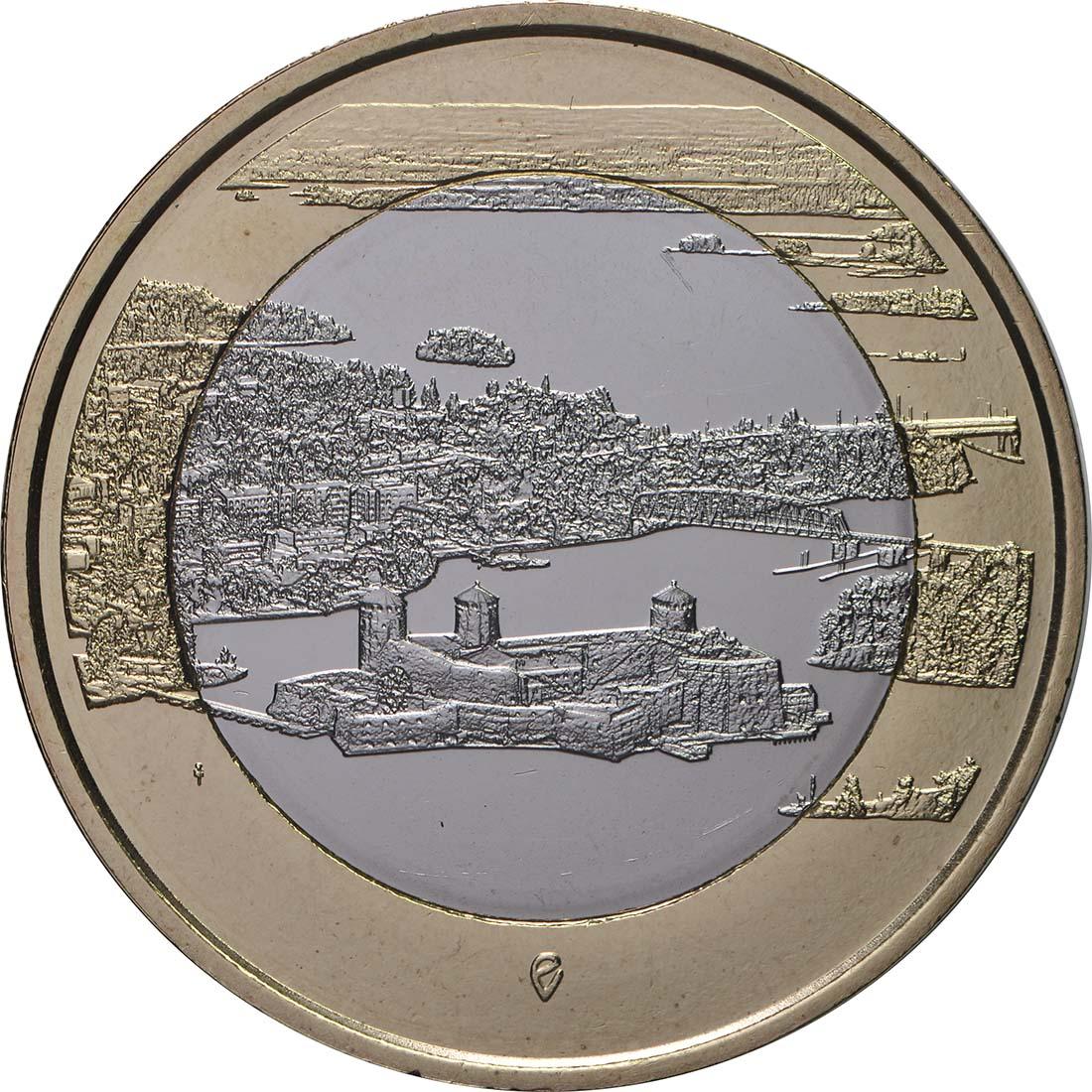 Vorderseite:Finnland : 5 Euro Olavinlinna - Pihlajavesi  2018 bfr