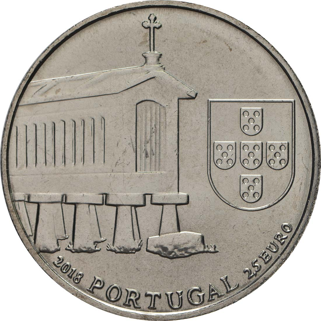 Vorderseite:Portugal : 2,5 Euro Kornspeicher von Nordwestportugal  2018 bfr