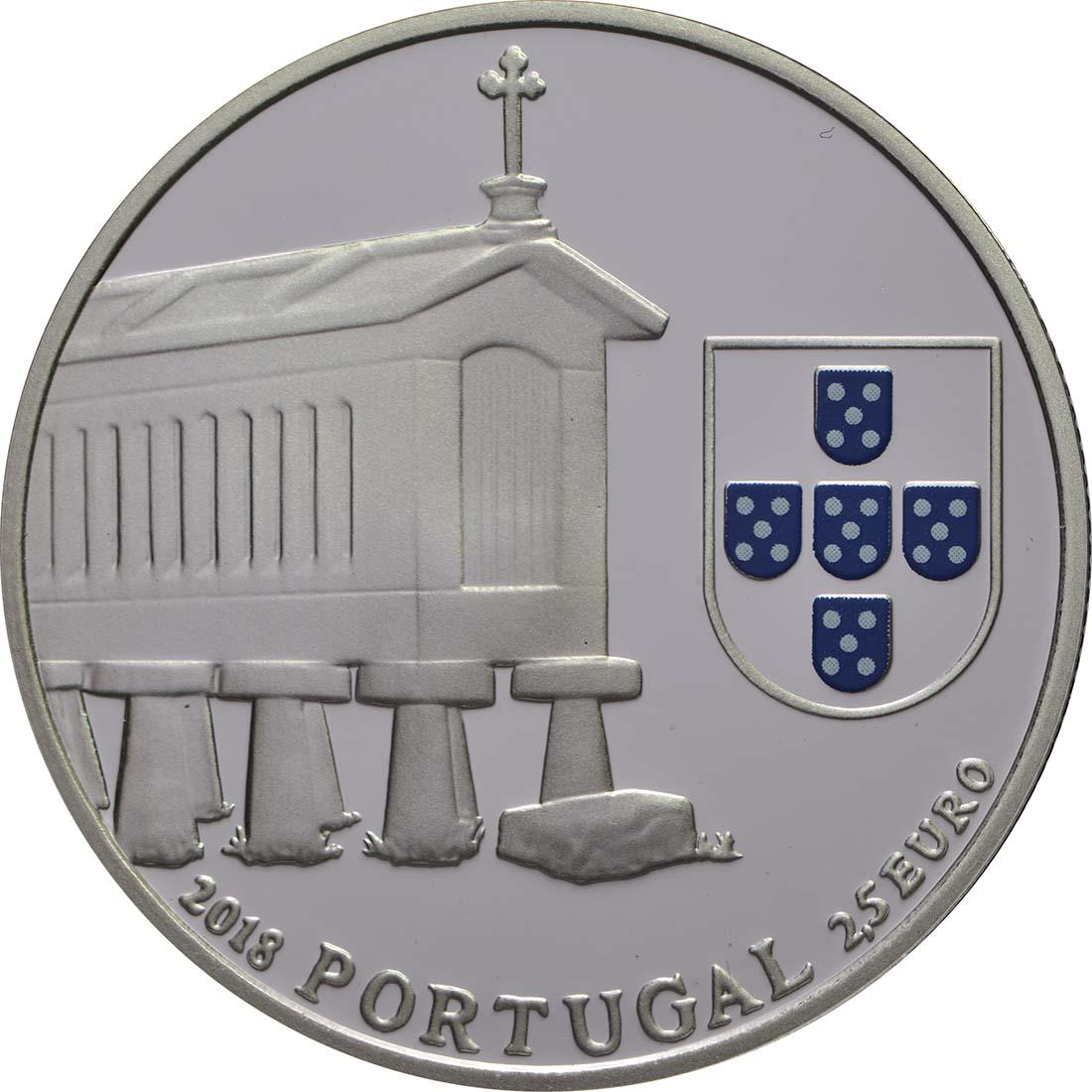 Vorderseite:Portugal : 2,5 Euro Kornspeicher von Nordwestportugal  2018 PP