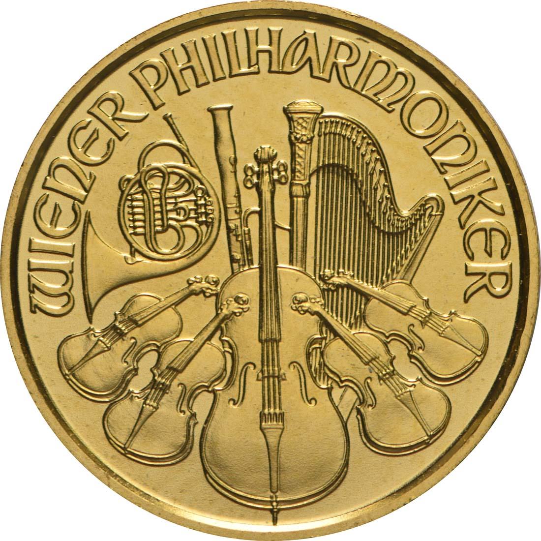 Vorderseite:Österreich : 4 Euro Philharmoniker  2018 Stgl.