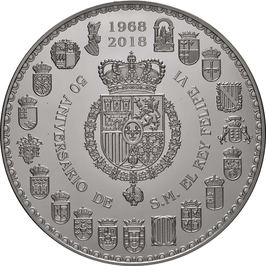 Rückseite:Spanien : 50 Euro Königliche Familie  2018 PP