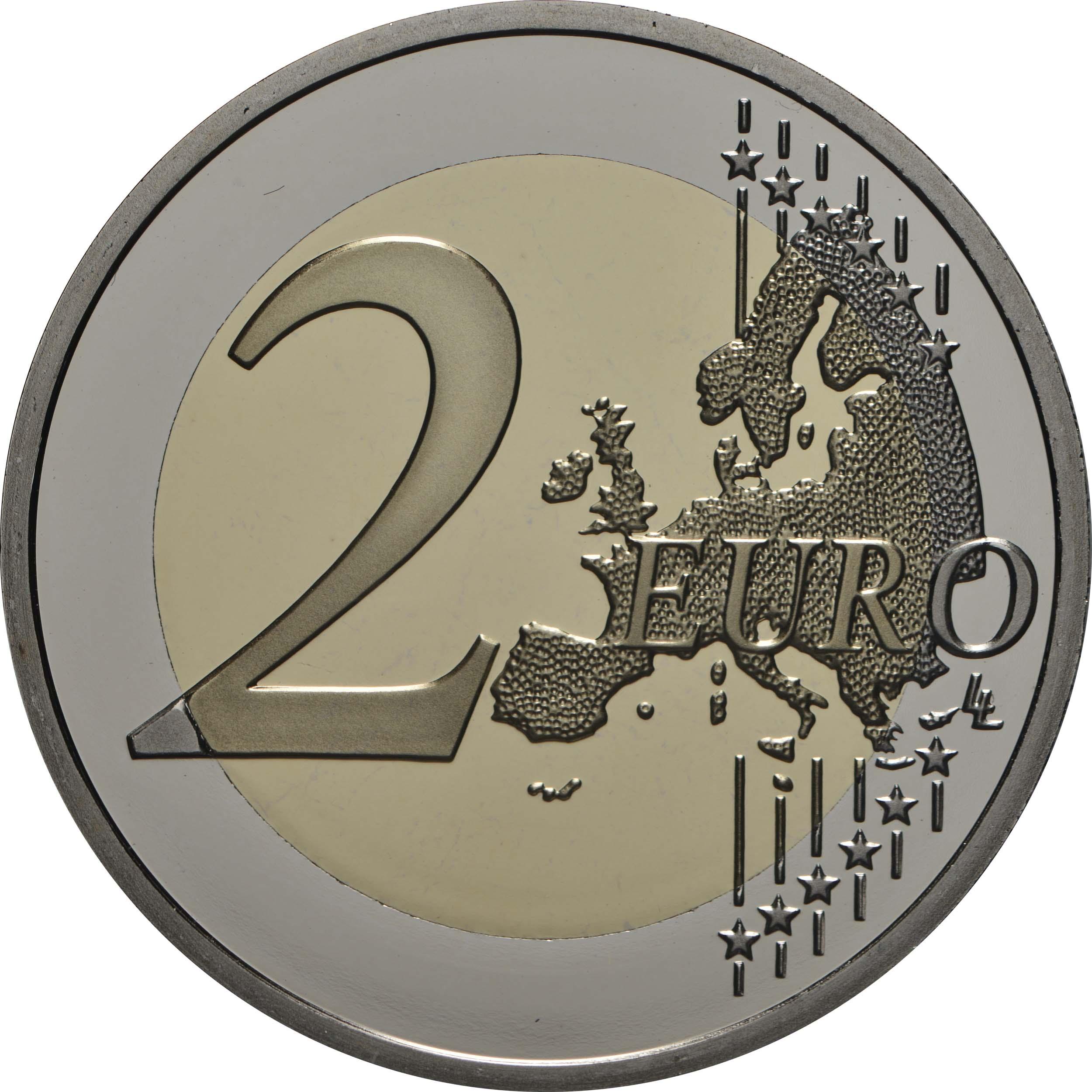 Vorderseite:Frankreich : 2 Euro Mauerfall  2019 PP