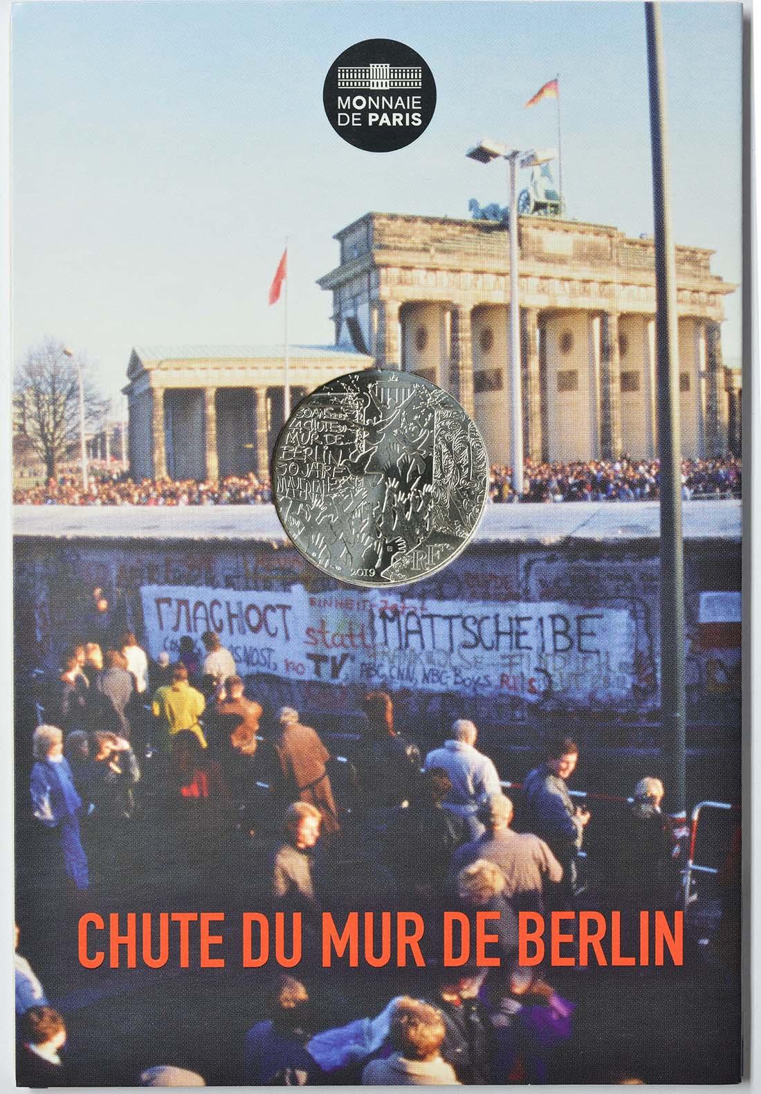 Lieferumfang:Frankreich : 10 Euro Fall der Berliner Mauer  2019 bfr