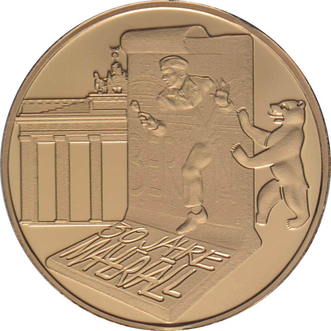 Vorderseite:Frankreich : 5 Euro Fall der Berliner Mauer  2019 PP