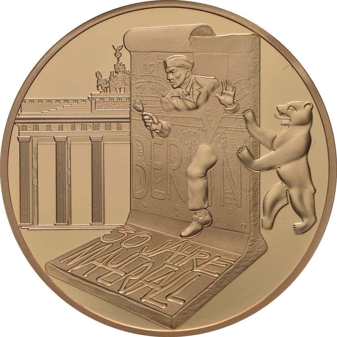 Vorderseite:Frankreich : 50 Euro Fall der Berliner Mauer  2019 PP