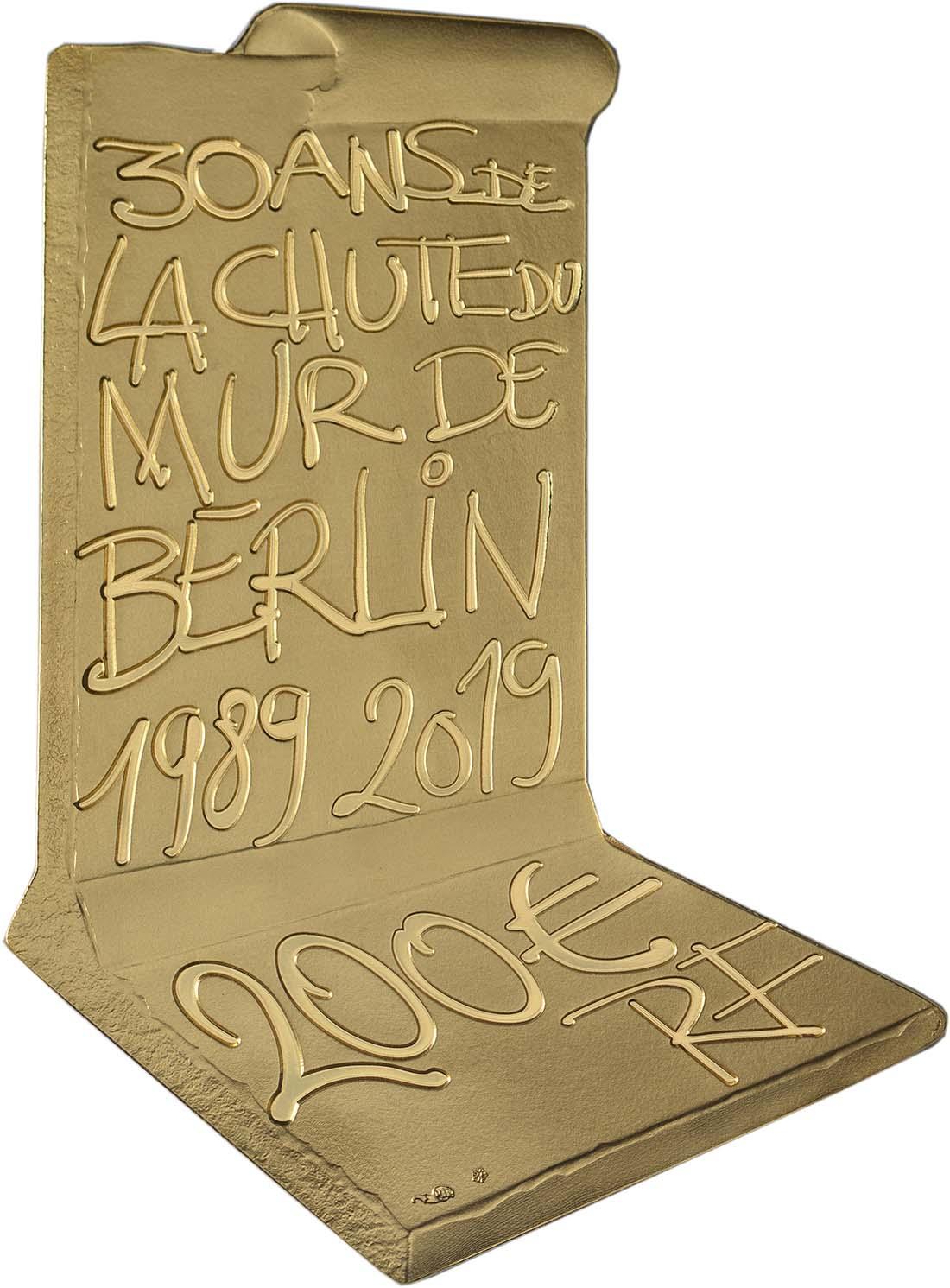 Rückseite:Frankreich : 200 Euro Fall der Berliner Mauer  2019 PP