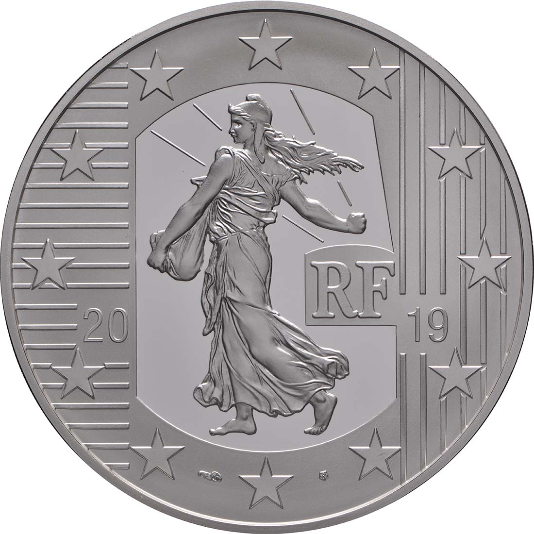 Vorderseite:Frankreich : 10 Euro Franc Germinal  2019 PP