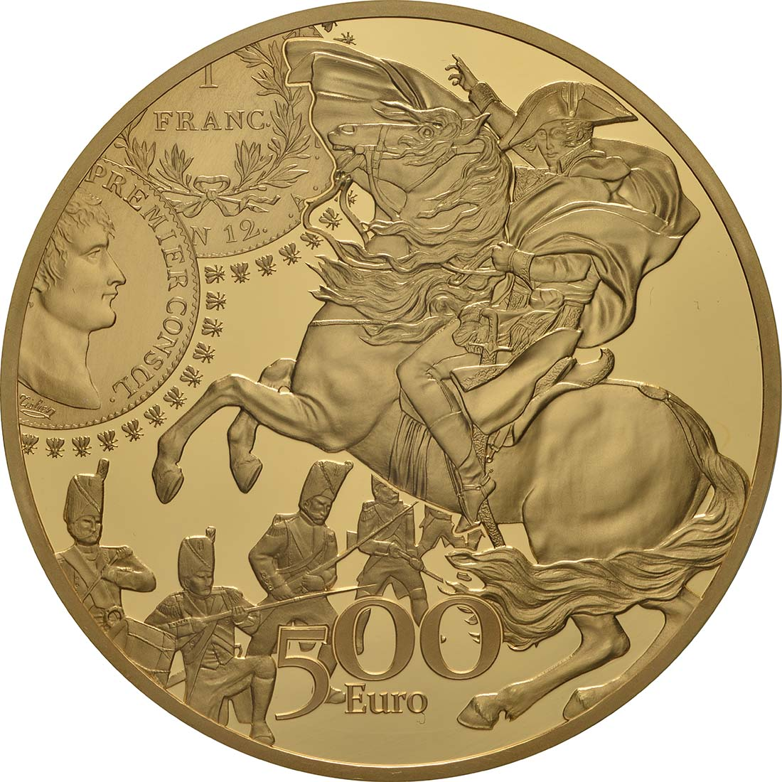 Rückseite:Frankreich : 500 Euro Franc Germinal  2019 PP