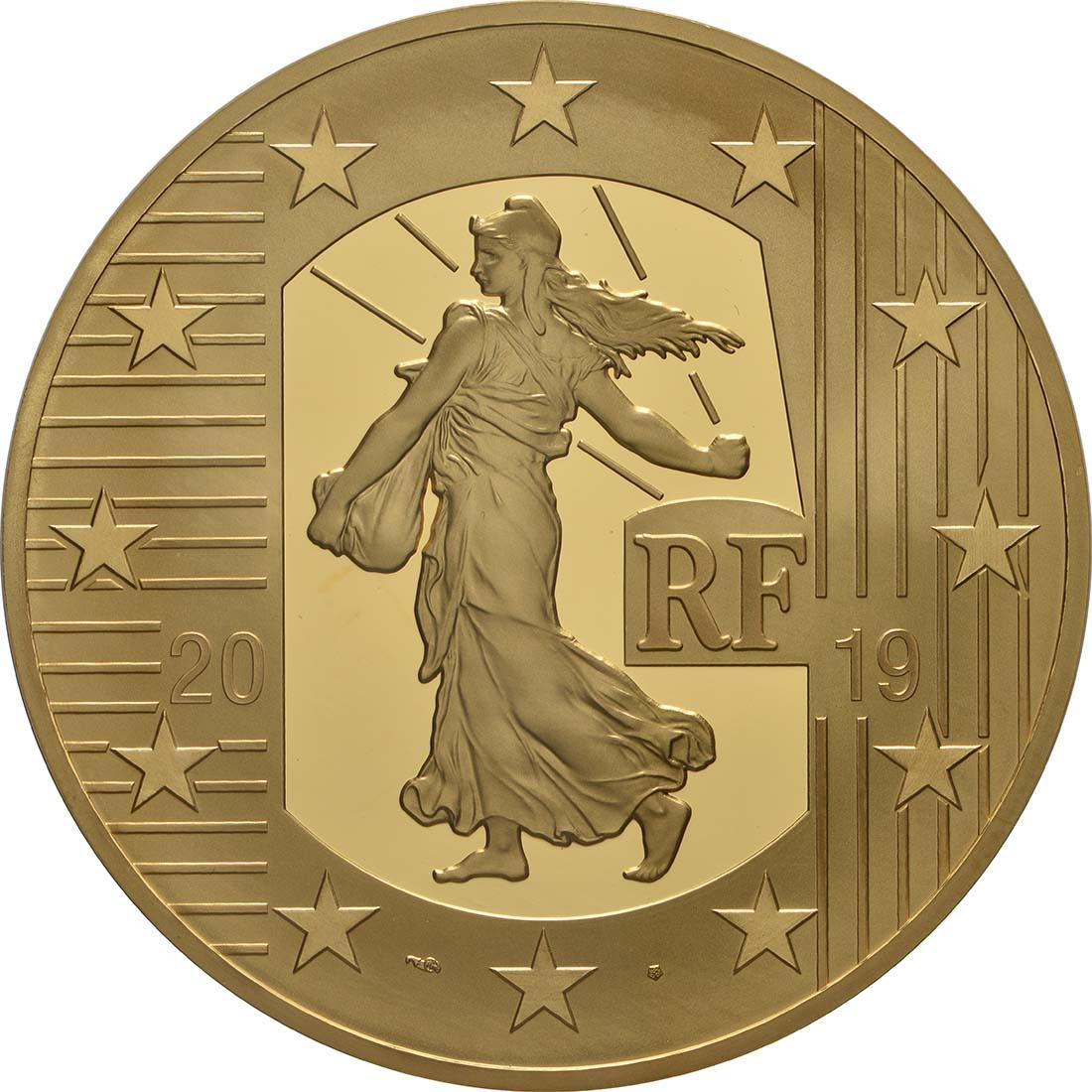 Vorderseite:Frankreich : 500 Euro Franc Germinal  2019 PP
