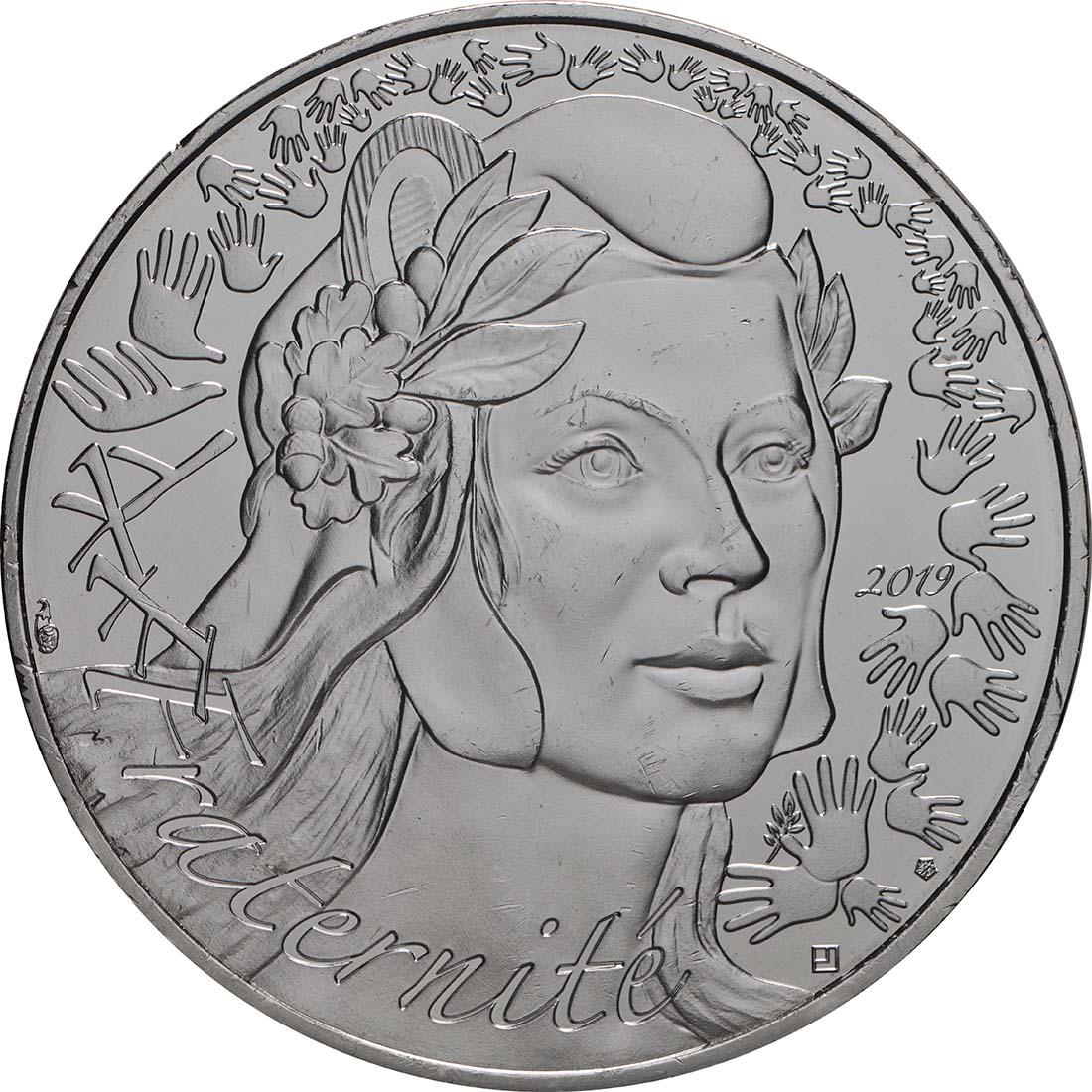 Vorderseite:Frankreich : 20 Euro Marianne  2019 bfr